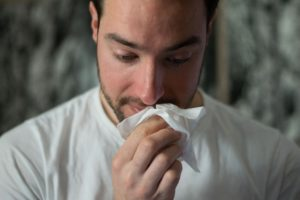 sneezing from immune cells