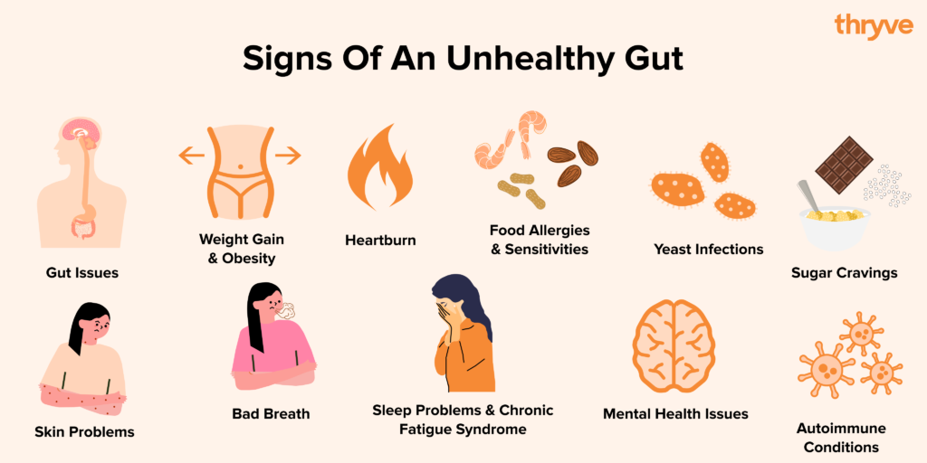 11 signs of an unhealth gut